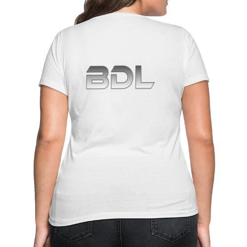 BDL lyhenne - Stanley & Stellan naisten v-aukkoinen luomu-T-paita