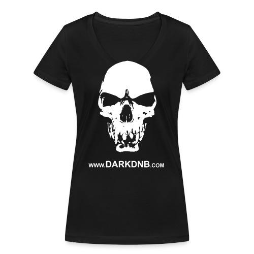 Dark DnB skull site - Women's Organic V-Neck T-Shirt by Stanley & Stella