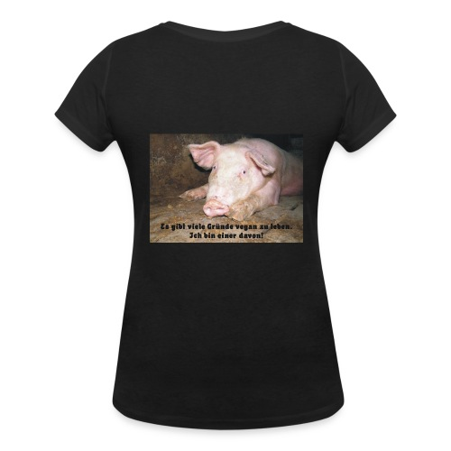 Gründe vegan zu leben - Frauen Bio-T-Shirt mit V-Ausschnitt von Stanley & Stella