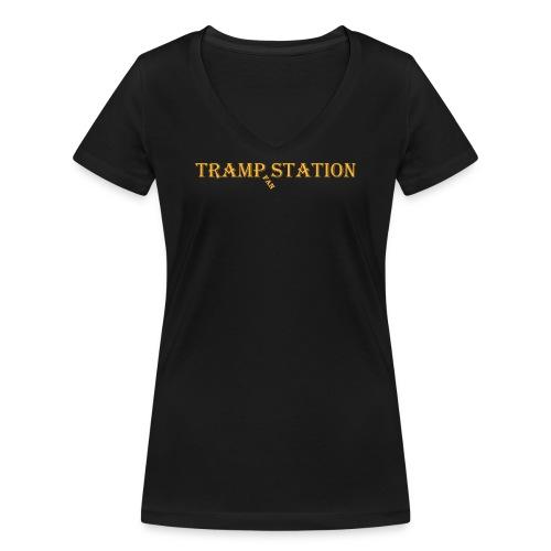 TrampStation FAN - Frauen Bio-T-Shirt mit V-Ausschnitt von Stanley & Stella