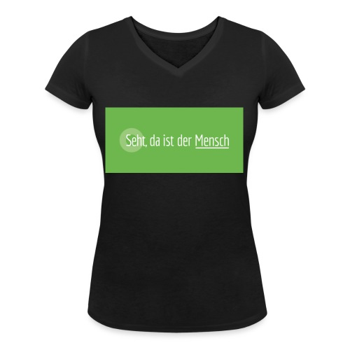 KT-Leipzig_Leitwort-neg-V - Frauen Bio-T-Shirt mit V-Ausschnitt von Stanley & Stella