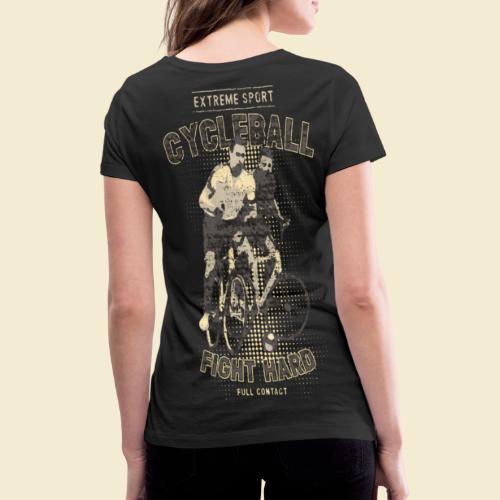 Radball | Fight Hard - Frauen Bio-T-Shirt mit V-Ausschnitt von Stanley & Stella