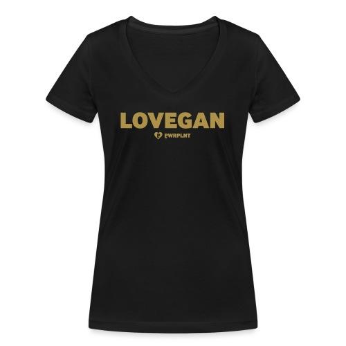 PWRPLNT LOVEGAN 02 - Frauen Bio-T-Shirt mit V-Ausschnitt von Stanley & Stella