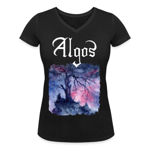 Definite Algos front - Women's Organic V-Neck T-Shirt by Stanley & Stella