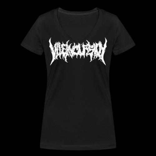 Biological backprint & logo - Ekologisk T-shirt med V-ringning dam från Stanley & Stella