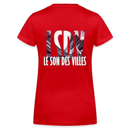 Le Son Des Villes : Ondes - T-shirt bio col V Stanley & Stella Femme