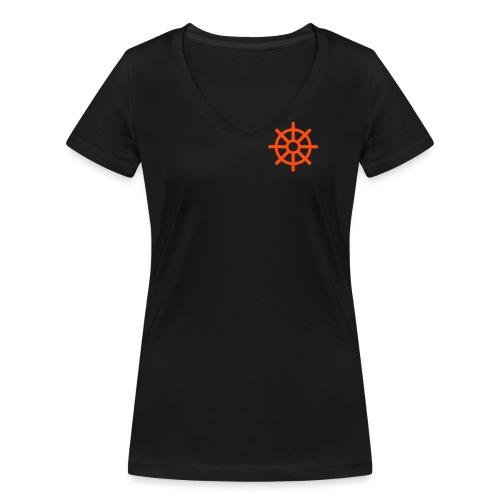 steuerrad - Frauen Bio-T-Shirt mit V-Ausschnitt von Stanley & Stella