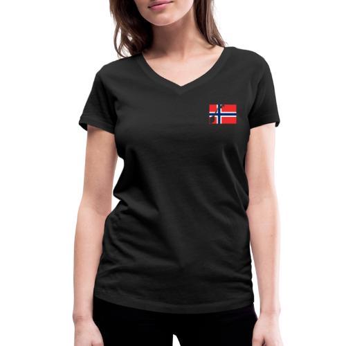 Norges Flagg - Frauen Bio-T-Shirt mit V-Ausschnitt von Stanley & Stella