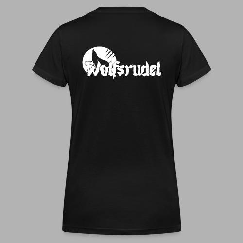 Logo Wolfsrudel Weiß - Frauen Bio-T-Shirt mit V-Ausschnitt von Stanley & Stella