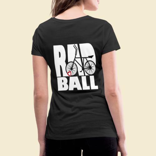 Radball | Typo - Frauen Bio-T-Shirt mit V-Ausschnitt von Stanley & Stella