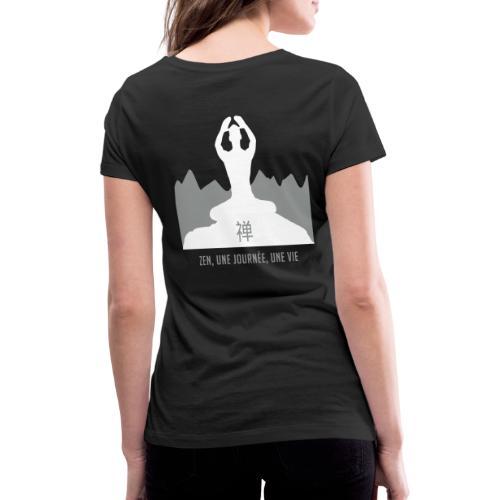 Zen une journée une vie - T-shirt bio col V Stanley & Stella Femme