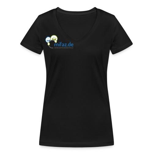 mifaz Logo DEINE - Frauen Bio-T-Shirt mit V-Ausschnitt von Stanley & Stella