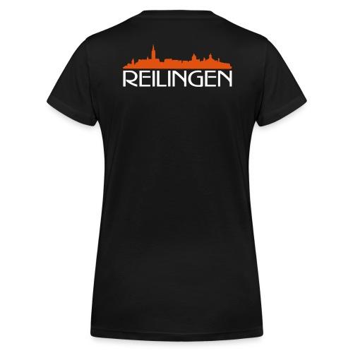 Reilinger Ortsshilhouette - Frauen Bio-T-Shirt mit V-Ausschnitt von Stanley & Stella