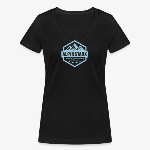 Alpinstark Logo klein - Frauen Bio-T-Shirt mit V-Ausschnitt von Stanley & Stella