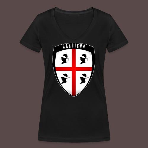 Sardegna Stemma - T-shirt ecologica da donna con scollo a V di Stanley & Stella