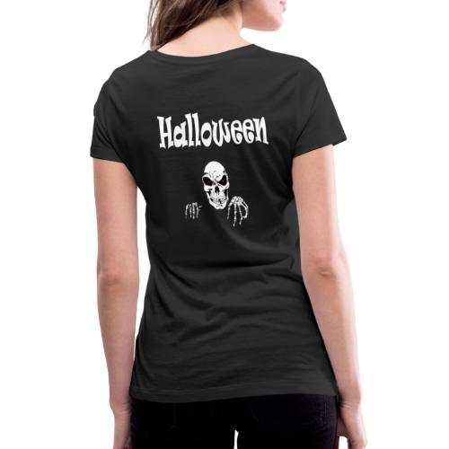 Halloween Dead Head Design - Frauen Bio-T-Shirt mit V-Ausschnitt von Stanley & Stella