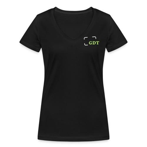gdt logoklein weissgruen - Frauen Bio-T-Shirt mit V-Ausschnitt von Stanley & Stella