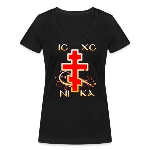 IC-XC-NI-KA - Frauen Bio-T-Shirt mit V-Ausschnitt von Stanley & Stella