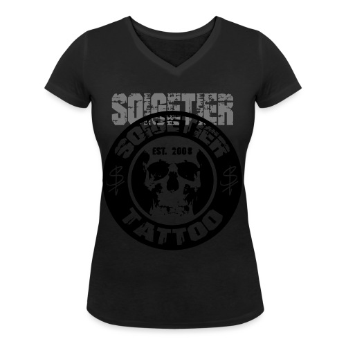 logo bad1 - Frauen Bio-T-Shirt mit V-Ausschnitt von Stanley & Stella