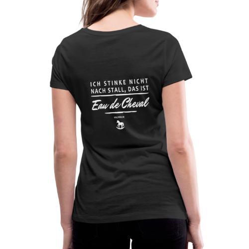 Eau de Cheval - Frauen Bio-T-Shirt mit V-Ausschnitt von Stanley & Stella
