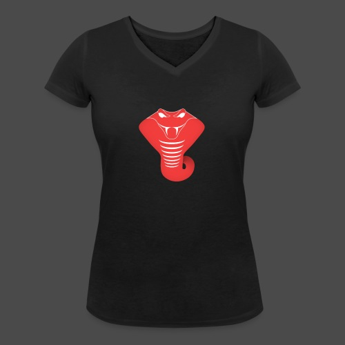 Just Some Bass snake png - Women's Organic V-Neck T-Shirt by Stanley & Stella