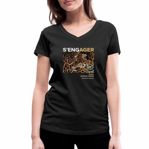 1 Achat = 1 Don à l'association Rainfer - T-shirt bio col V Stanley & Stella Femme