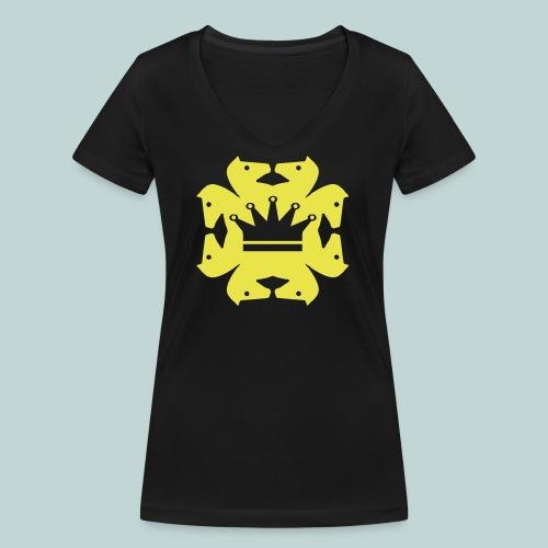 acht Springer - Frauen Bio-T-Shirt mit V-Ausschnitt von Stanley & Stella