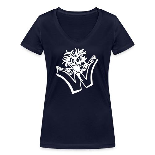 w wahnsinn - Vrouwen bio T-shirt met V-hals van Stanley & Stella