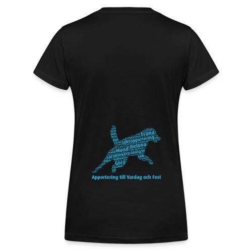 Apportering till vardag och fest wordcloud blått - Ekologisk T-shirt med V-ringning dam från Stanley & Stella