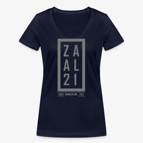 T-SHIRT-BLOK - Vrouwen bio T-shirt met V-hals van Stanley & Stella