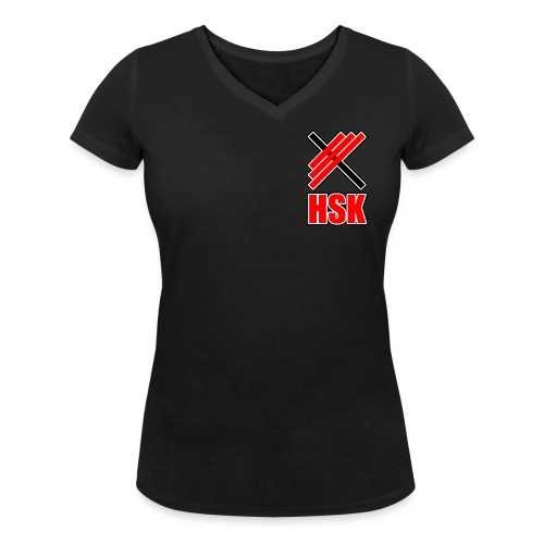 Huddinge styrkelyftklubb 2 logotyper - Ekologisk T-shirt med V-ringning dam från Stanley & Stella