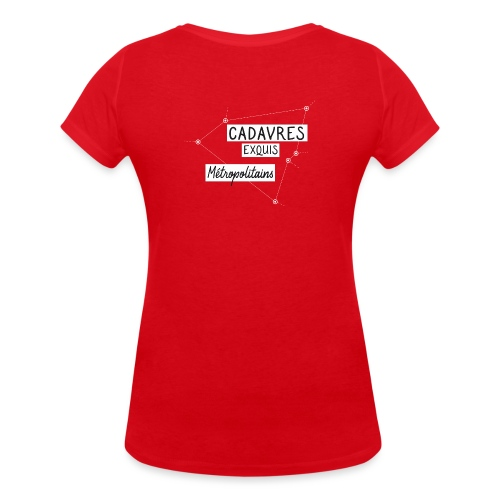 Cadavres Exquis Métropolitains - T-shirt bio col V Stanley & Stella Femme