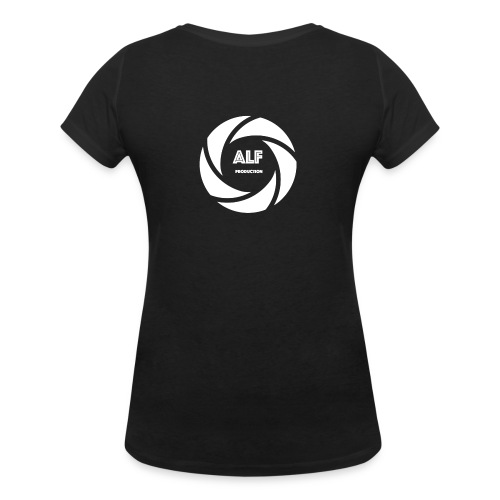 Logo Bianco - T-shirt ecologica da donna con scollo a V di Stanley & Stella