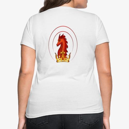 Drachenkoenig Logo - Frauen Bio-T-Shirt mit V-Ausschnitt von Stanley & Stella