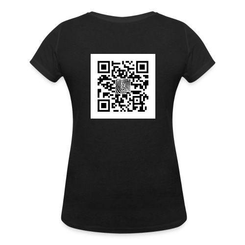 QR Code Zijt gij niet - Vrouwen bio T-shirt met V-hals van Stanley & Stella