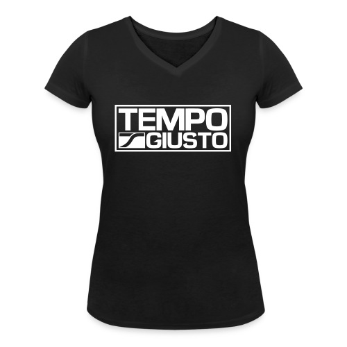 Tempo Giusto Rectangle - Women's Organic V-Neck T-Shirt by Stanley & Stella