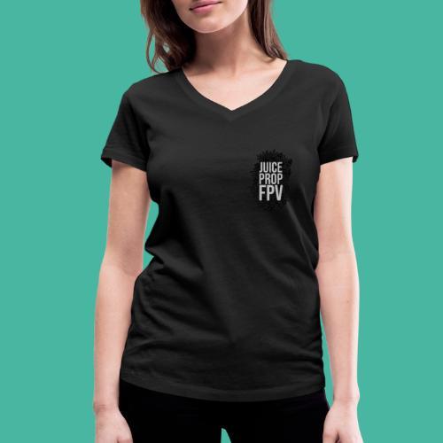 JuicePropFPV LOGO Pile TEXT Black DOUBLE - Frauen Bio-T-Shirt mit V-Ausschnitt von Stanley & Stella