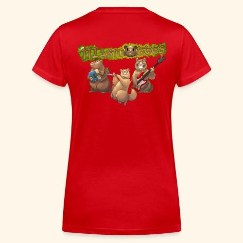 Tshirt groupe dos - T-shirt bio col V Stanley & Stella Femme