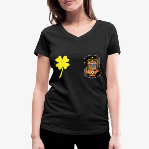 Trébol de la suerte CEsp - Camiseta ecológica mujer con cuello de pico de Stanley & Stella