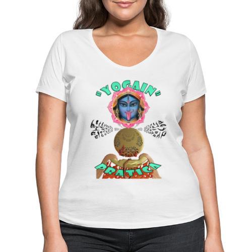 YogaIn Pratica - T-shirt ecologica da donna con scollo a V di Stanley & Stella