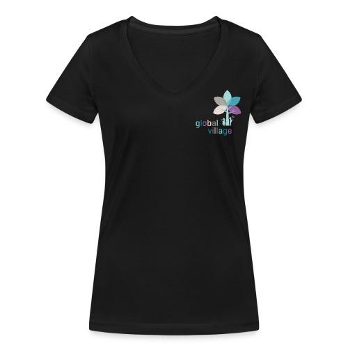 Bildmarke bunt 150dpi rgb - Frauen Bio-T-Shirt mit V-Ausschnitt von Stanley & Stella