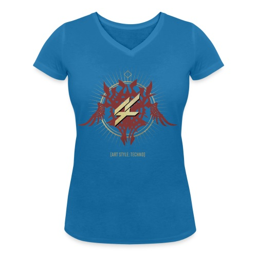 AST01FRONT png - Women's Organic V-Neck T-Shirt by Stanley & Stella