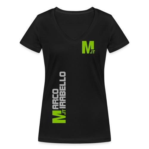 Marco Mirabello - T-shirt ecologica da donna con scollo a V di Stanley & Stella