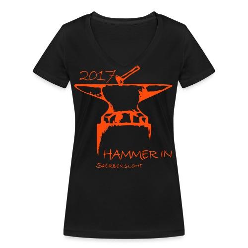 Logo Version 2017klein - Frauen Bio-T-Shirt mit V-Ausschnitt von Stanley & Stella