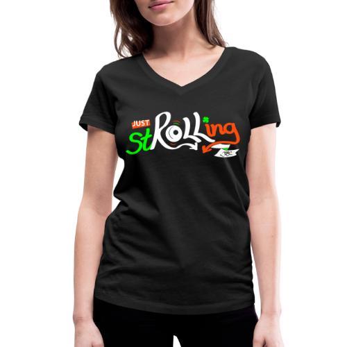 stroll-ie - Women's Organic V-Neck T-Shirt by Stanley & Stella