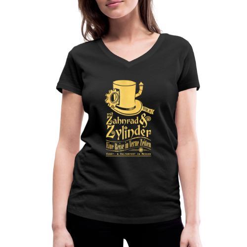 ZuZ 2018 + Brust- & Rückenmotiv - Frauen Bio-T-Shirt mit V-Ausschnitt von Stanley & Stella