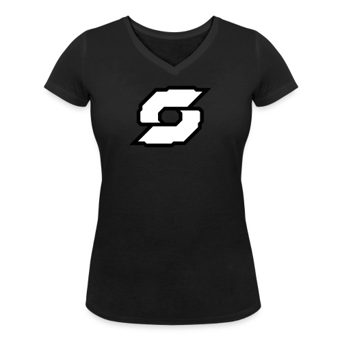 The Clamps Logo Vecto - Women's Organic V-Neck T-Shirt by Stanley & Stella