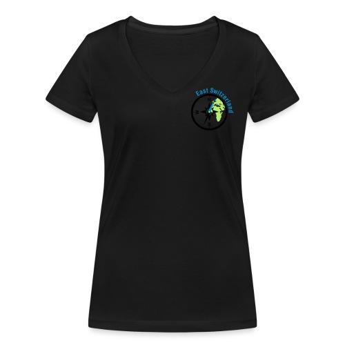 Logo Brust - Frauen Bio-T-Shirt mit V-Ausschnitt von Stanley & Stella