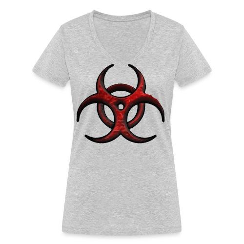 biohazard 3D 2 - Camiseta ecológica mujer con cuello de pico de Stanley & Stella