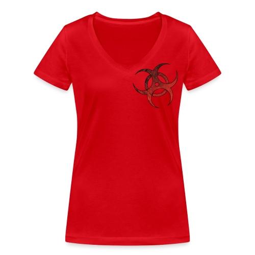 logo 2 - Camiseta ecológica mujer con cuello de pico de Stanley & Stella